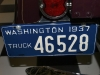 1937 Ford 1/2 Ton Pickup - License Plate View