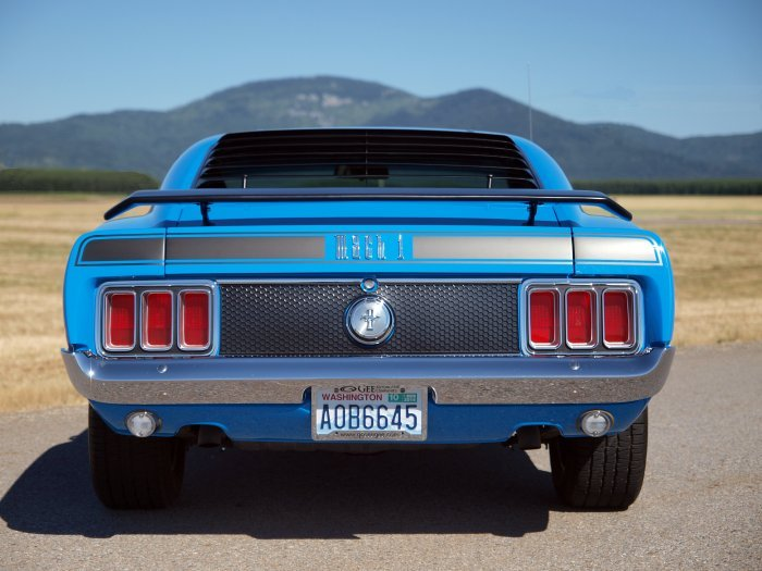 1970 Mustang Mach 1 Fastback Rear View